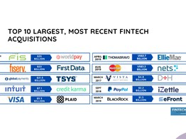Top 10 Largest, Most Recent Fintech Acquisitions and M&As | Fintech Schweiz Digital Finance News - FintechNewsCH image