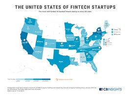 Top-Funded US Fintech Startups 2019 by State | Fintech Schweiz Digital Finance News - FintechNewsCH image