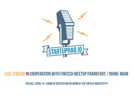 """LIVE STREAM - With Fintech Meetup FFM """"Covid-19 - Dawn of digitization or doom of the FinTech industry?!?"""" image"""