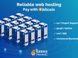 Web Hosting Company GeeksHosted.com Experience Post Data Center Business Boom, Now Accepts Bitcoin » The Merkle Hash image