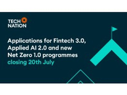 Applications for Fintech 3.0 and Applied AI 2.0, and new Net Zero 1.0 programme closing 20th July image