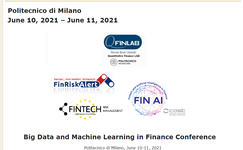 Fintech: Big Data and Machine Learning in Finance Conference