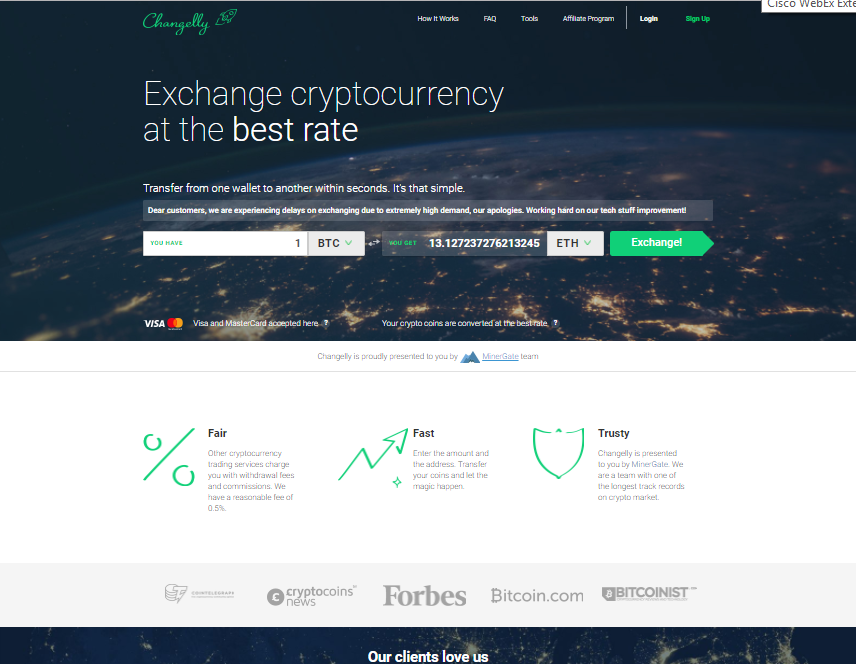 Changelly is a good exchange. I like it. Relatively good rates and easy to use interface. Useful when you need a quick exchange of your coins. Recommended to people who haven't used it yet. October 03, , PM.