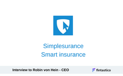 Smart Insurance,  interview with Robin von Hein, CEO of Simplesurance